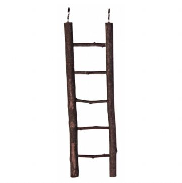 Pet Ting Dark Wooden Ladder - 5 Steps
